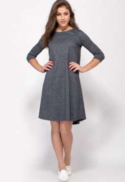 שמלת נשים סריג פרומו פעמון בד מלנז`