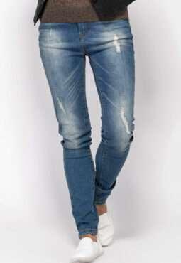 ג'ינס נשים סקיני משופשף
