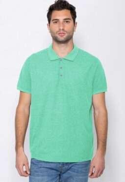 חולצת פולו קלאסית בטקסטורת פיקה