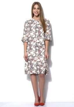 שמלה עם הדפס פייזלי שרוולי בלון