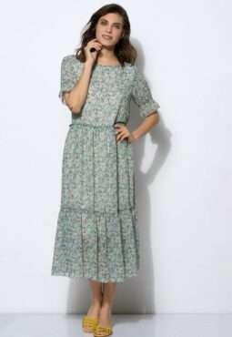 שמלה במראה קומות הדפס פירחוני