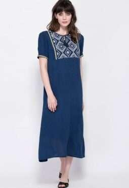 שמלת גלביה רקומה