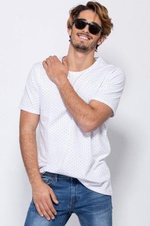 חולצת טי פיקה-לייקרה הדפס אול אובר