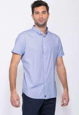 חולצת כפתורים ג'קארד דוגמא