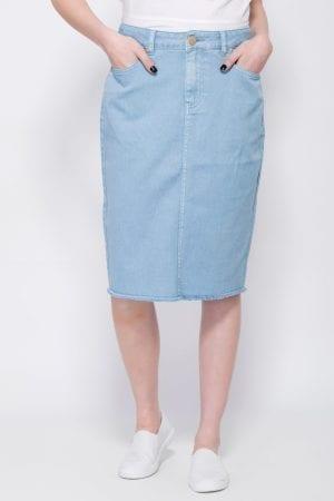 חצאית ג'ינס צבעוני
