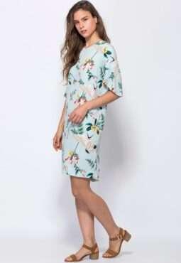 שמלה מודפסת Bird of Paradise