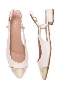 נעליים עם חרטום בצבע מטאלי