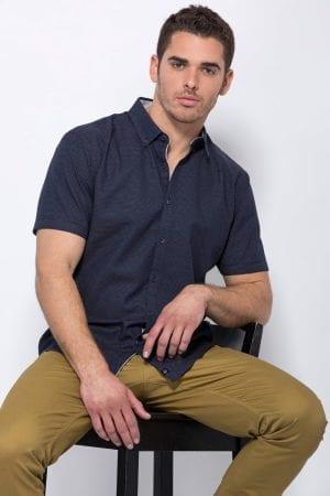 חולצת כפתורים ג'קארד