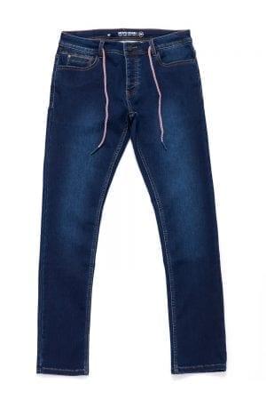 ג'ינס רגל צרה בשילוב שרוך