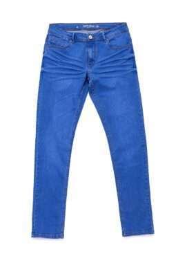 גינס כחול רגל צרה