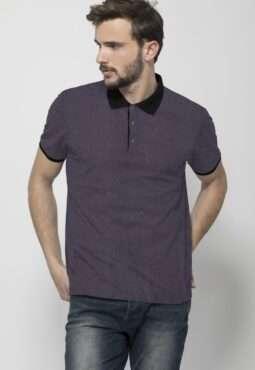 חולצת פולו צווארון בצבע קונטרסטי