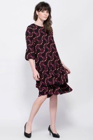שמלה עם הדפס גאומטרי