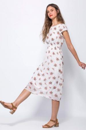 שמלת שיפון פירחונית