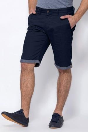מכנסי ברמודה עם מכפלת קונטרסטית