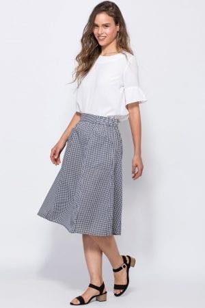 חצאית משבצות עם כיסים