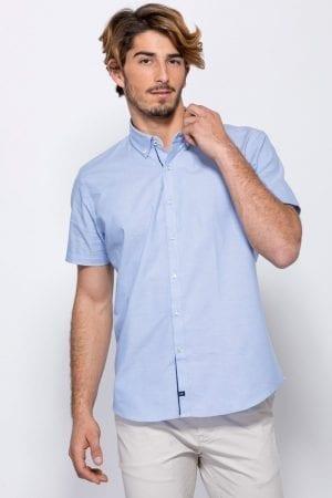 חולצת כפתורים קצרה