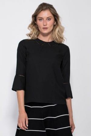 חולצת אריג שרוולי פפלום