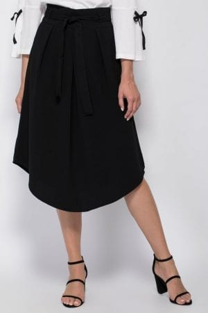 חצאית אריג עם קשירה