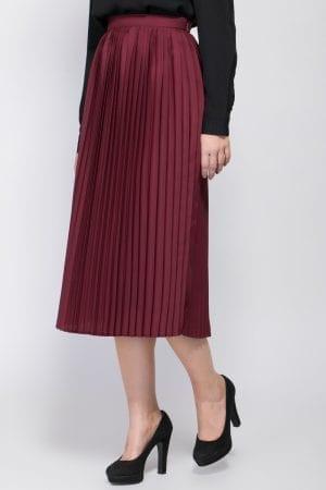 חצאית אריג פליסה