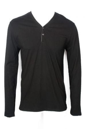 חולצת טי בטקסטורת מלאנז'