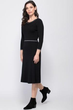 שמלת סריג בשילוב פסי לורקס