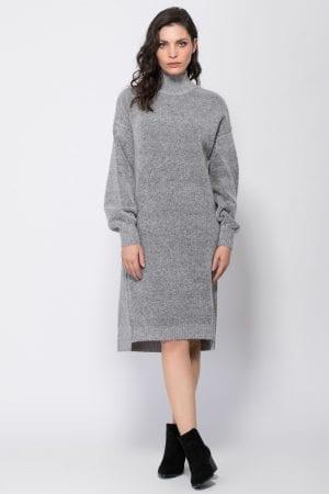 שמלת סריג מלאנג' מכפלת אסימטרית