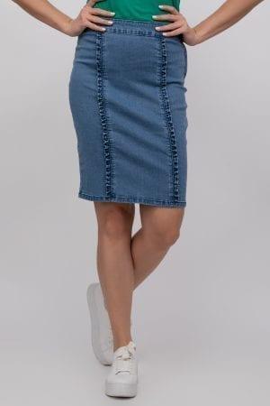 חצאית ג`ינס עם וולנים