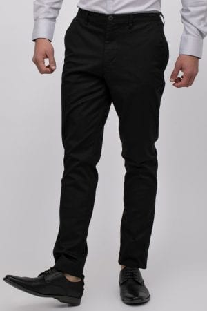 מכנסיים אלגנטיים סטרצ' עם פס גומי בחגורה אחורית