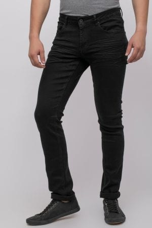 ג'ינס שחור חלק סקיני
