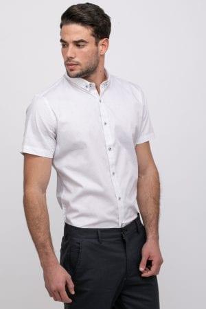 חולצה מכופתרת אוקספורד הדפס אול אובר