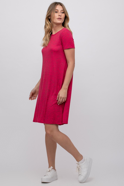 שמלת בייסיק בצבעי מלאנז'