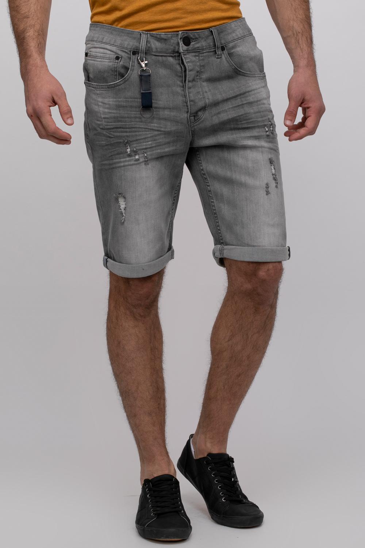 ברמודה ג'ינס אפור עם שטיפה