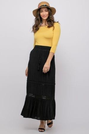 חצאית מקסי אריג