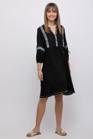 שמלת גלביה שחורה