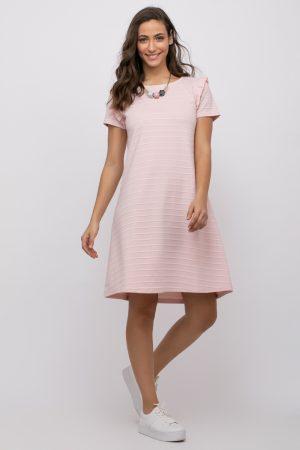 שמלה עם פפלום בשרוול
