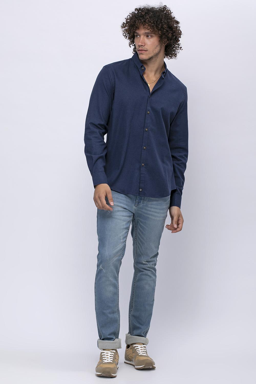 חולצת פלנל כחולה