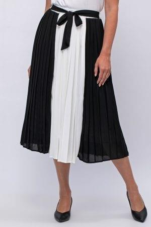 חצאית שיפון שני צבעים