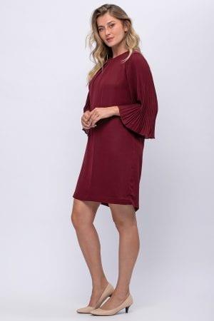 שמלת שרוול פליסה