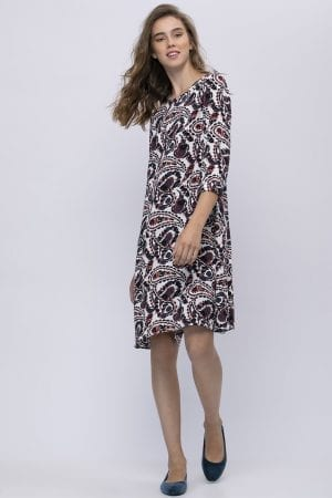 שמלה בגזרת A עם הדפס