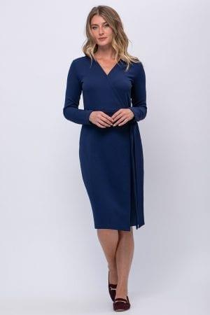 שמלת מעטפת חלקה