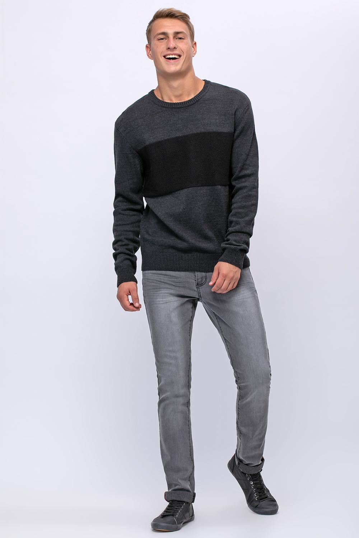 סוודר עבה עם פס חזה