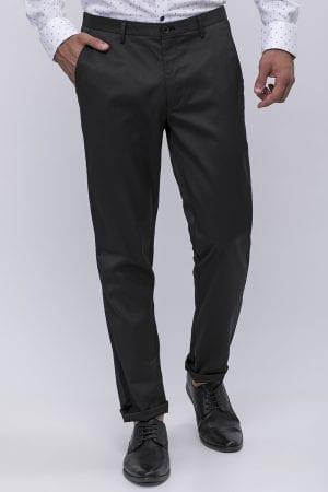 מכנס שחור אלגנט עם דוגמא בד