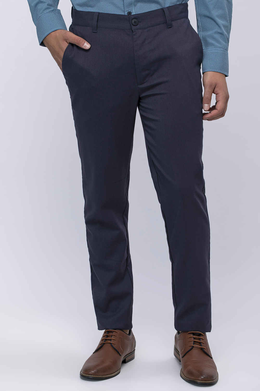 מכנס אלגנט מחויט בסיסי בגזרה צרה