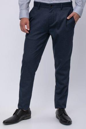 מכנס אלגנט מלנש גזרה ישרה עם סיומת רגל צרה
