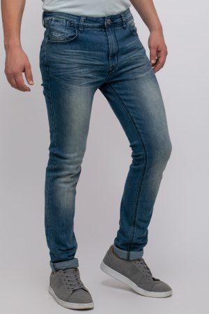 ג'ינס כחול גזרה צרה