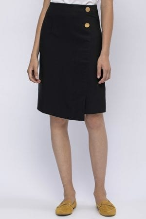 חצאית דמוי מעטפת