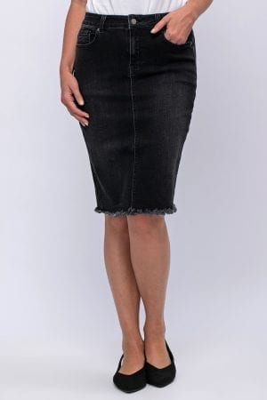 חצאית ג'ינס סיומת פרומה