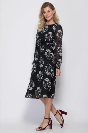שמלת שיפון הדפס אול אובר