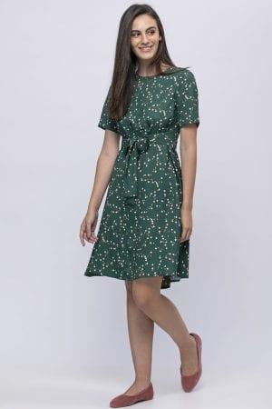 שמלת אריג מודפסת