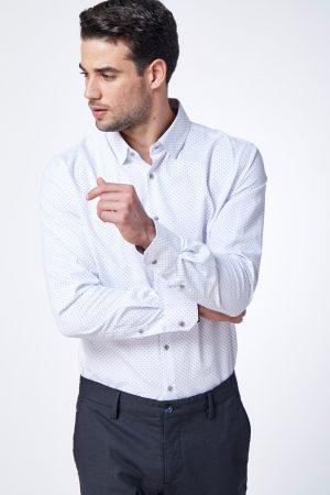 חולצה אלגנטית עם הדפס אול אובר